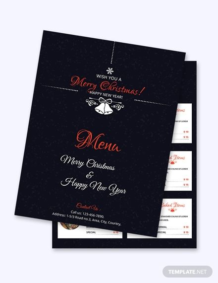 Free Simple Christmas Menu Card Template Word Doc Psd Apple Mac Pages Publisher Menu Card Template Christmas Menu Menu Cards