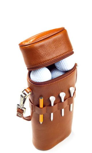 Like the man-equivalent of a Birkin, this luxe carrying case will make all the other dads green-as-a-golf-course with jealousy.Golf Ball Carrier, $50, clava.com