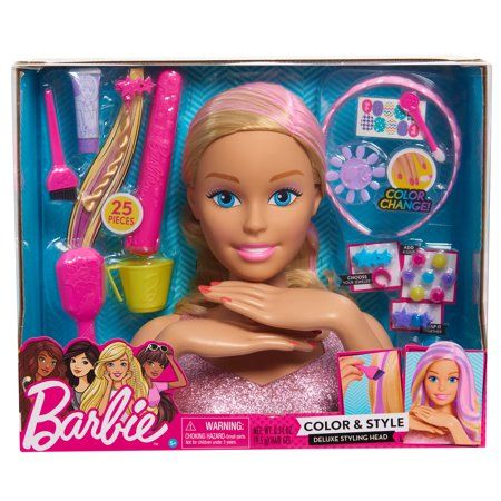Barbie Color Style Deluxe Styling Head Blonde Hair Walmart Com Barbie Toys Baby Girl Toys Christmas Toys