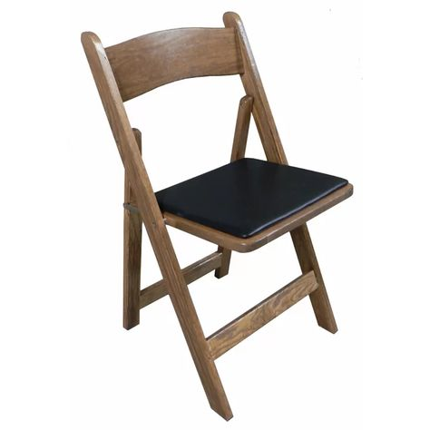 wooden cushioned folding chairs