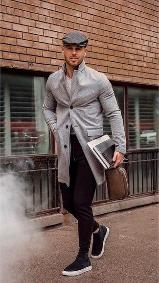 urban street outfits high grey sneakers