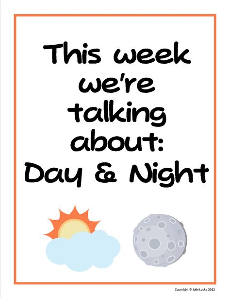 Teaching The Little People: Learning About Day and Night in Preschool
