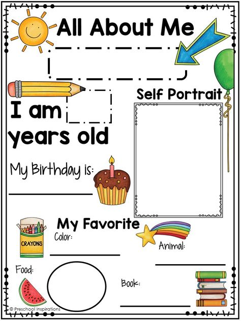 Printable All About Me Poster for a Preschool Theme - Preschool Inspirations - Printable All About Me Poster for a Preschool Theme Informations About Printable All About Me Poster - Preschool About Me, Preschool Prep, Preschool Lesson Plans, Preschool Crafts, Preschool Learning Activities, Homeschool Kindergarten, Preschool Worksheets, All About Me Activities For Preschoolers, Preschool Writing