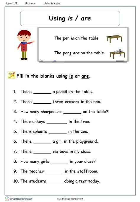 A or An English Grammar Worksheet