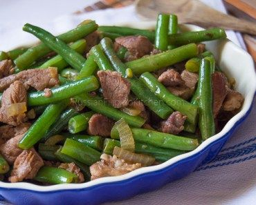 Sauteed Green Beans With Ground Beef Filipino Style Ginisang Baguio Beans Recipe Green Beans Pork Recipes Pork And Green Beans Recipe