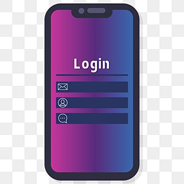 Flat Gradient Mobile Phone Cartoon Png Material Flat Phone Gradient Phone Simple Phone Png And Vector With Transparent Background For Free Download Phone Template Cartoons Png Phone