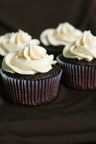 guinness and bailey's irish cream cupcakes. perfect recipe for St. Patrick's day.