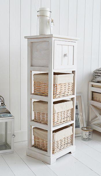 Slim Storage Furnitrue 30cm Wide White Bathroom Storage Storage Furniture Bedroom White Furniture Living Room