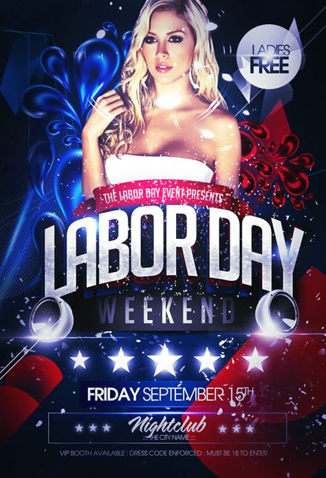 Flyer Template - Labor Day Party rrrr Pinterest Flyer - labour day flyer template
