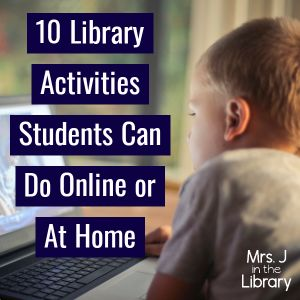 If your school is starting virtual, remote, or distance learning due to the spread of the coronavirus, use these online activities in your library lessons. School Library Lessons, Library Lesson Plans, Elementary School Library, Library Skills, Library Ideas, School Library Themes, Elementary Schools, Middle School Libraries, Library Activities