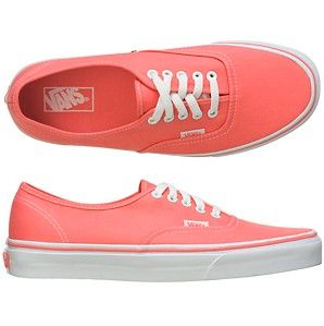 Coral Vans! - Click image to find more Women's Fashion Pinterest pins