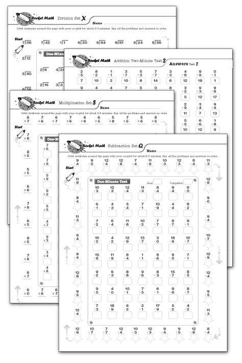 Fluency Tests Rocket Math Rocket Math Math Fact Fluency Math Subtraction Rocket math worksheet program