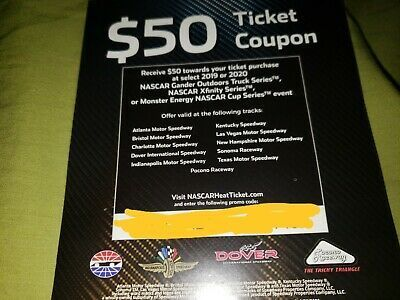 Nascar 50 Off Ticket Coupon Xfinity Monster Energy In 2020 Monster Energy Nascar Monster Energy Nascar