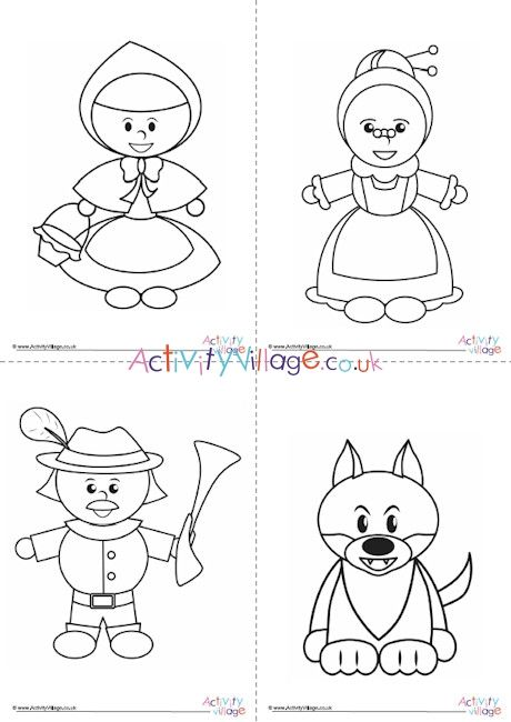 42+ Little red riding hood coloring page HD