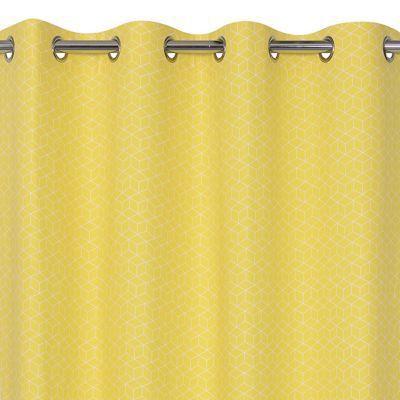 Rideau Trios Jaune 140 X 240 Cm En 2020 Castorama Jaune Et Rideaux