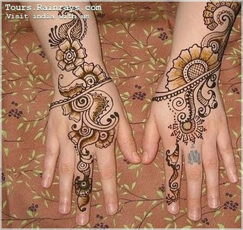 traditional and natural henna(mehandi) beauty recipe India. visit India with us