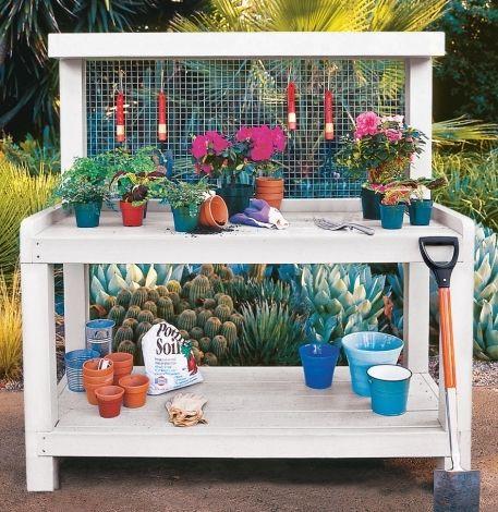 How To Build A Potting Bench Pallet Furniture Plans Diy Garden