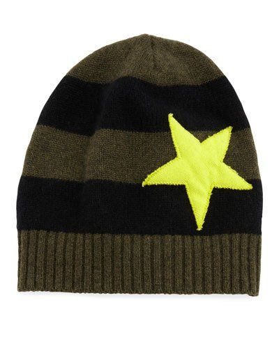 Lisa Todd Lucky Star Striped Cashmere Hat in 2019 | Products