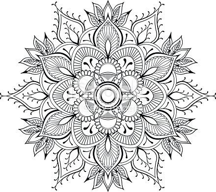 Fleur Mandala Elements De Decoration Vintage Motif Oriental Buchseiten Orientalische Muster Mandala Ausmalen