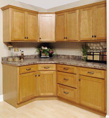 Details About Shaker Oak Kitchen Cabinet Finish Sample Rta All