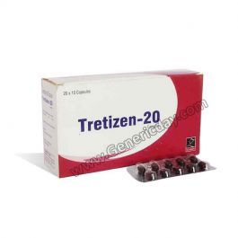 Tretizen 20 mg Capsules by Cipla is used to treat severe