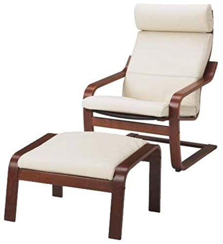 New Ikea Poang Chair Armchair Footstool Set Off White Leather Covers Online Theveryhotnew In 2020 Ikea Poang Chair Home Furniture Online Chairs Armchairs