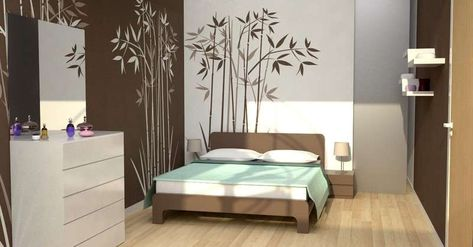 Stencil per decorare le pareti - Stencil da camera da letto | Arredo ...