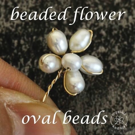 This video shows you step-by-step how to make a beaded flower using rice pearls and wire. Visit my website for the full tutorial and two other designs.#bridaljewelry #diyjewelry #jewelrymaking #diy #pearljewelry