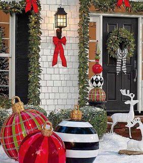 21 Fachadas navidenas de casas