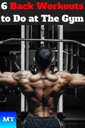 6 Back Workouts Best Exercises For Beginners At The Gym Back Workout Men Gym Back Workout Muscle Fitness