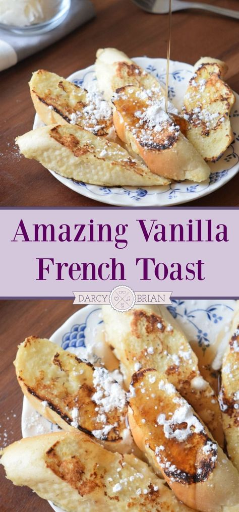 Looking for delicious breakfast or brunch recipes? Try this amazing Vanilla French Toast recipe. It's scrumptious and very easy to make!