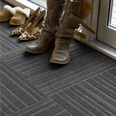 Beautiful Straight Narrow   Gray Carpet Tile At FLOR   16 Tiles (4x4) Square Kitchen  Rug   Option #2 OR Foyer Rug Alternative | My Office Design Inspiration ...