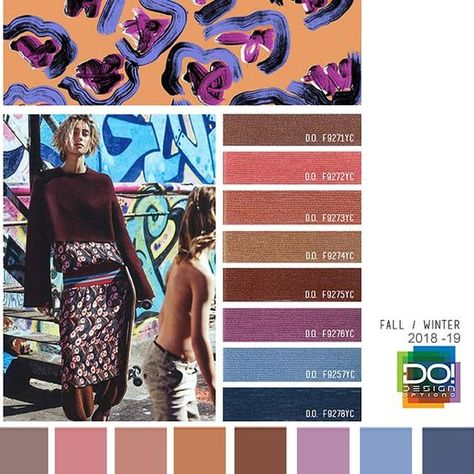color report on Contemporary Women's Mood details: Easy Living, detail.