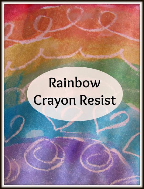 The Chocolate Muffin Tree: Rainbow Crayon Resist