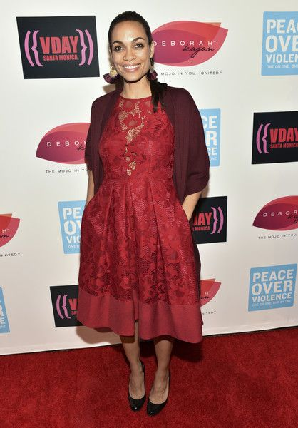 Actress Rosario Dawson attends the 20th Anniversary of V-Day at The Broad Stage.