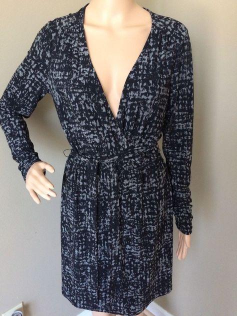 Daisy Fuentes Women's Belted Faux Wrap Dress Moda Long