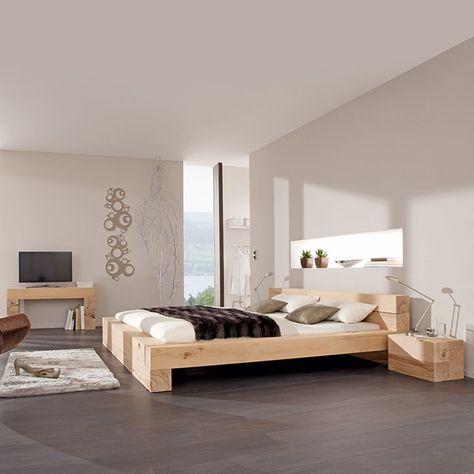 MASSIV BLOX 180X15X15cm Krovati + skameyki Pinterest - komplett schlafzimmer massiv