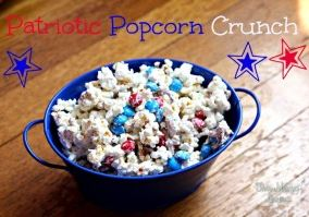 Patriotic Popcorn Crunch recipe for Memorial Day and Fourth of July