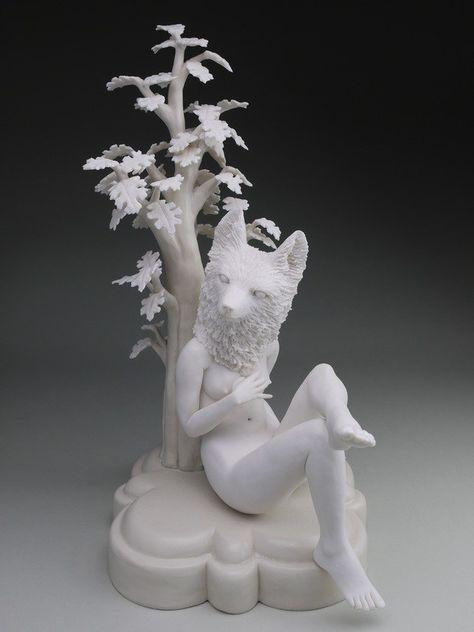 Crystal Morey Porcelain Sculpture Ceramic Nature Animal Fauna Flora Human Anatomy Interaction Fusion Hybrid N Sculpture Crystals Ceramic Sculpture