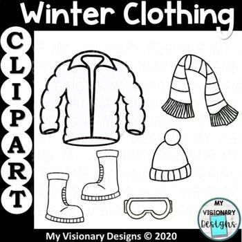 Winter Clothing Clipart In 2021 Winter Outfits Clip Art Winter Clipart