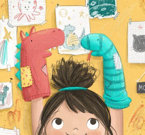 Sock puppets 🎨 via Simple Illustration, Children's Book Illustration, Character Illustration, Digital Illustration, Book Illustrations, Cartoon Kunst, Cartoon Art, Sock Puppets, Hand Puppets