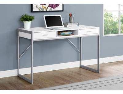 Ebern Designs Calvillo Credenza Desk Wayfair White Computer Desk Home Office Computer Desk Contemporary Computer Desk
