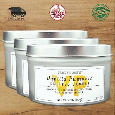 BRAND NEW TRADER JOE/'S SCENTED CANDLE TINS VARIOUS SCENTS