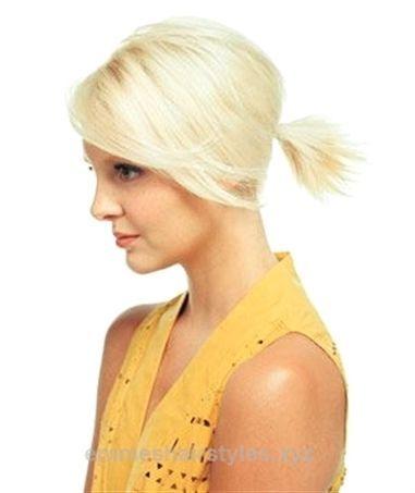 Pferdeschwanz Fur Kurzes Haar Quot The Spout Quot Aufgabe Fohnen Sie Das Haar Gerade Emma S Hai Short Hair Ponytail Ponytail Hairstyles Short Ponytail