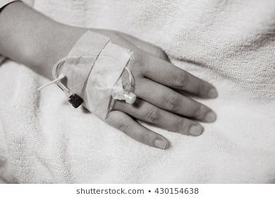 Closeup Of Iv Drip In Woman Hand On Bed In Hospital Focus On The Hand Of A Patient Black And White Photo Girly Dp Beauty Makeup Tutorial Girls Hand