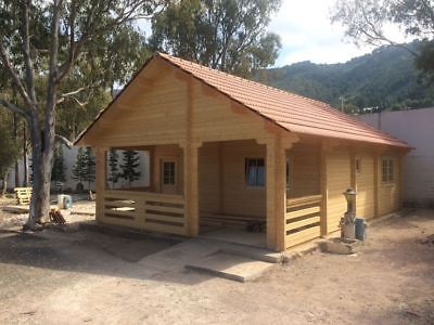20ft X 30ft Log Home Pool Guest House Building Kit With Bunk Loft Sleep Area Building A House Pool Houses Log Homes