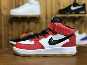 air force high 1 red white