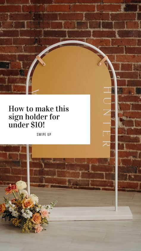Arch shaped easel for modern wedding signs Event Planning, Wedding Planning, Summer Wedding, Dream Wedding, Cowboy Weddings, Barn Weddings, Outdoor Weddings, Wedding Signage, Wedding Welcome