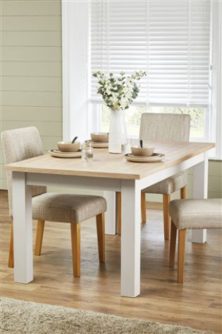 Cream Malvern 6 10 Seater Double Extending Dining Table