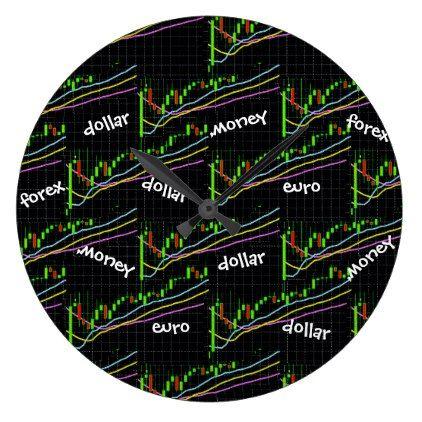 Forex Money Euro Dollar Large Clock Decor Diy Cyo Customize Home